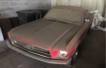 1967 Mustang Fastback before restoration